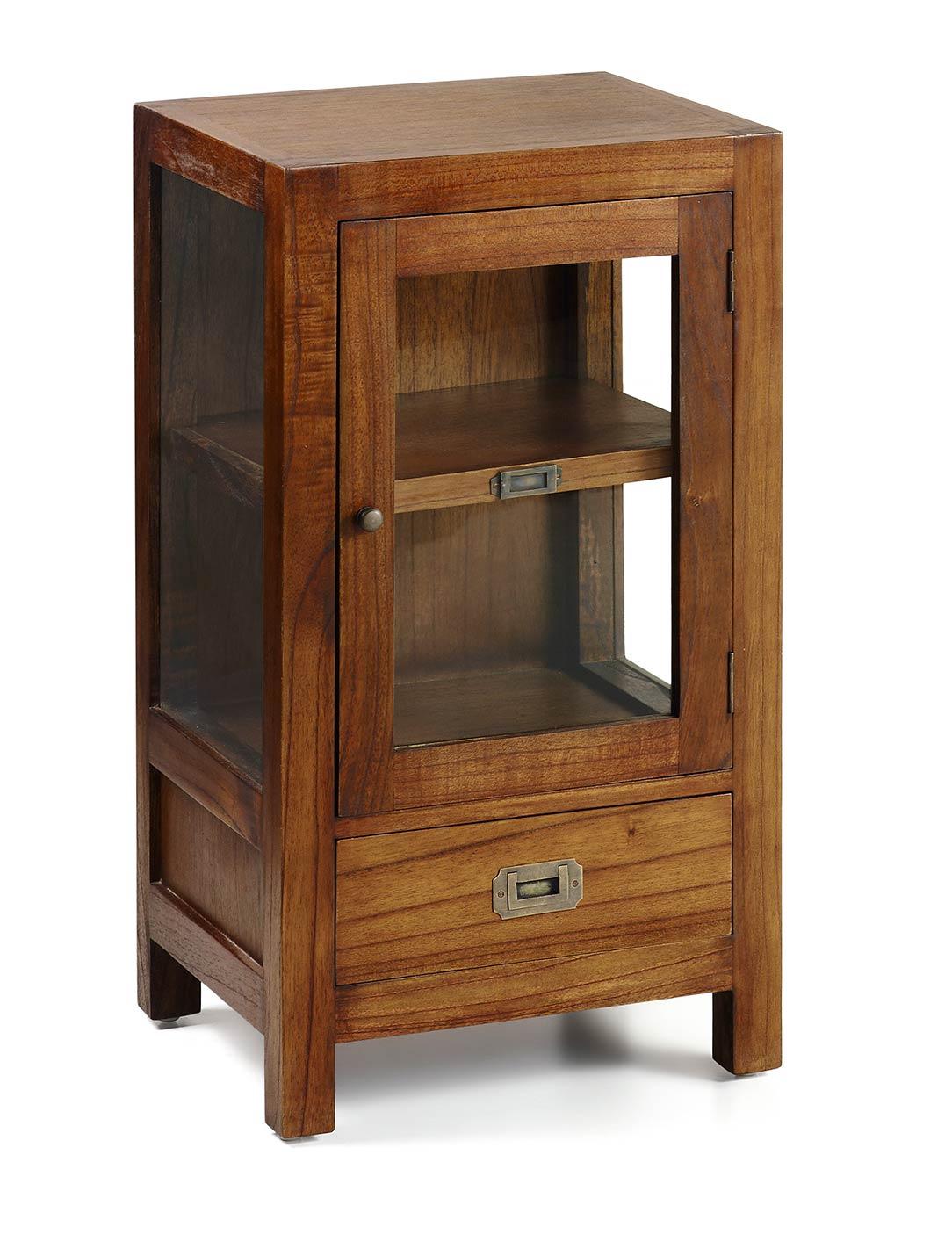 meuble t l phone en bois de mindy 1 porte 1 tiroir. Black Bedroom Furniture Sets. Home Design Ideas