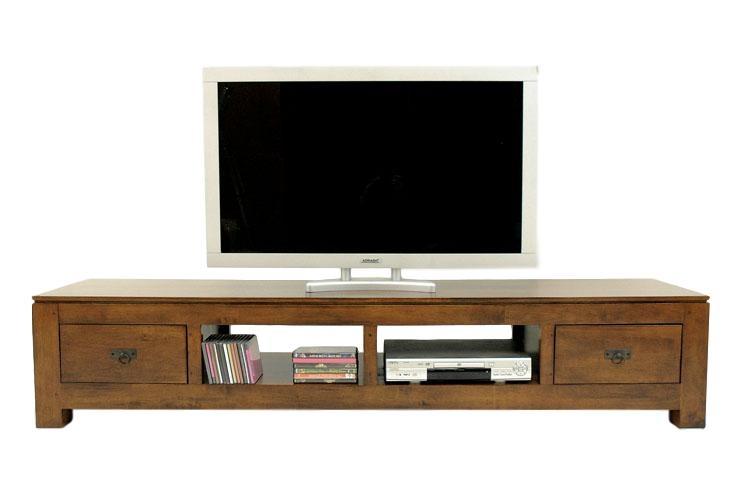meuble t l long 200 cm quixa. Black Bedroom Furniture Sets. Home Design Ideas