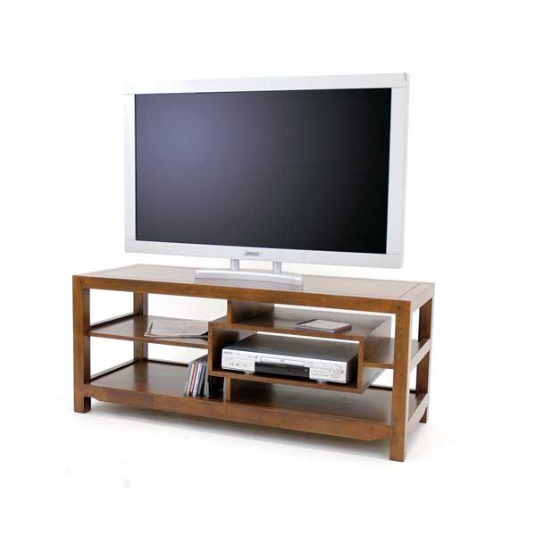meuble télé bois foncé – Artzeincom -> Etagere Pour Television En Bois