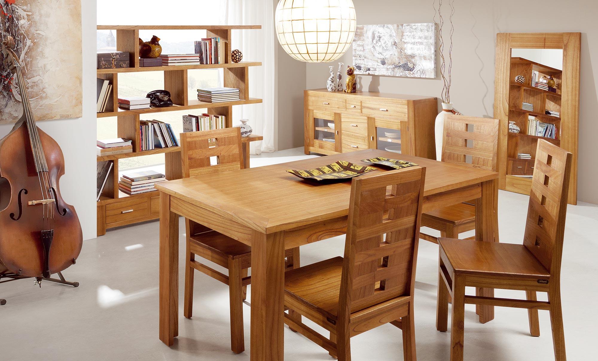 Long meuble tv en bois naturel 2 tiroirs 160 40 45 for Meuble salon long