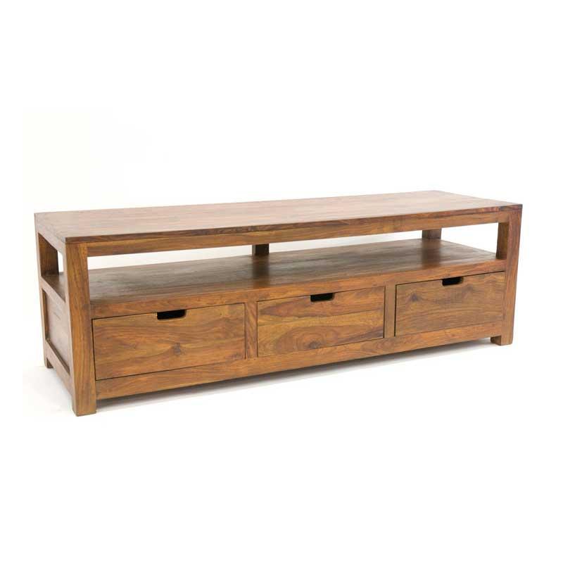 meuble tv palissandre 3 tiroirs loft 5552. Black Bedroom Furniture Sets. Home Design Ideas
