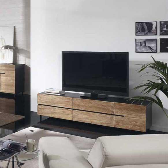 Meuble Tv Teck Et Acacia Wengé 1 Porte 4 Tiroirs Pairol U2013 Image 1 U003d Meuble  Tv Wenge Et Verre