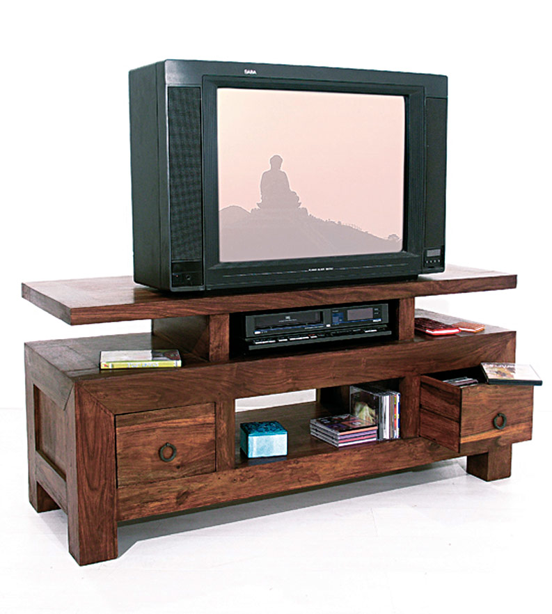 meuble tv plasma bois. Black Bedroom Furniture Sets. Home Design Ideas