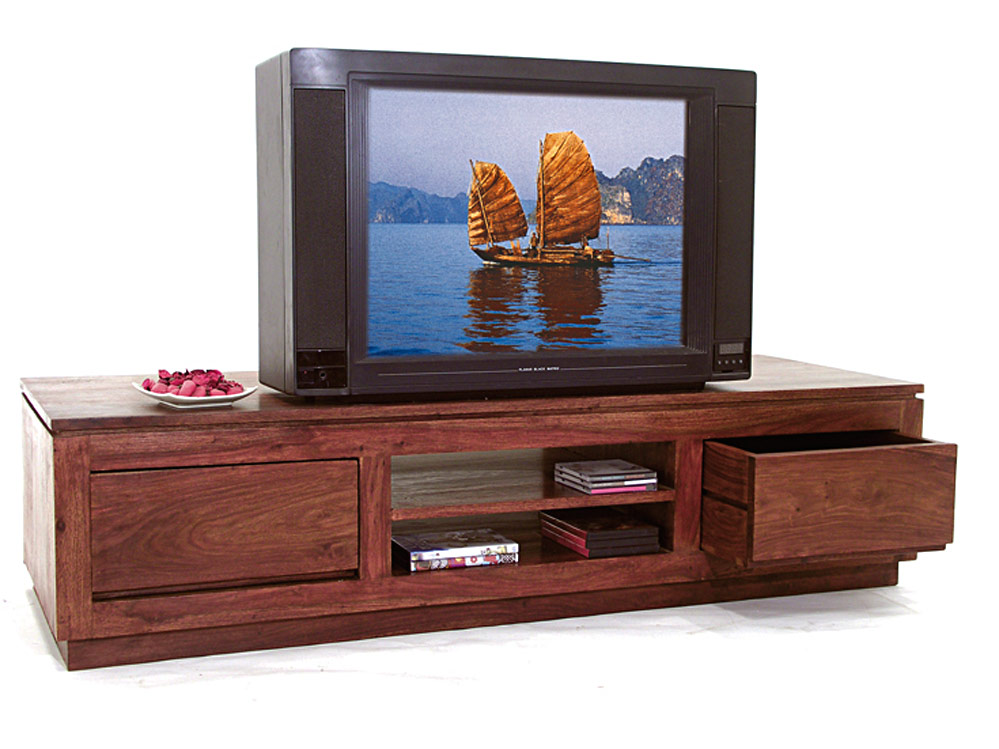 Meuble bas tv plasma en palissande 6522 for Meuble bas tele
