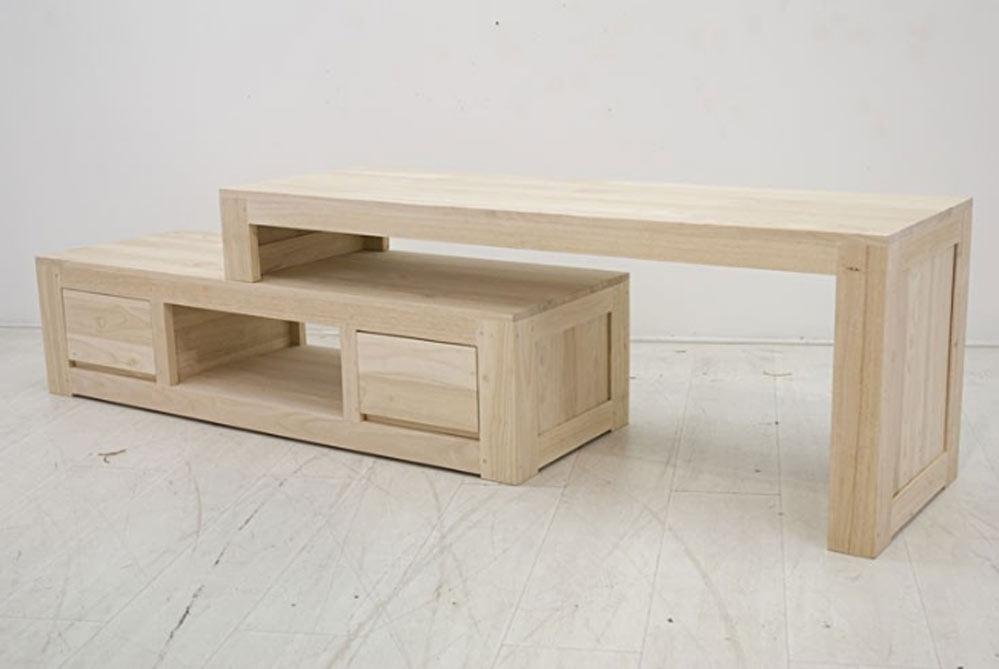 meuble t l modulable personnalisable 2 l ments longueur 137 cm. Black Bedroom Furniture Sets. Home Design Ideas