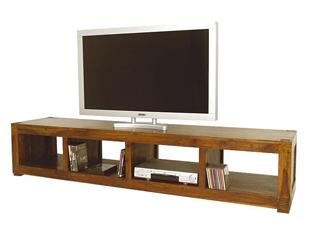 meuble tv bas long en bois de palissandre pour cran large avec nombreux rangements. Black Bedroom Furniture Sets. Home Design Ideas