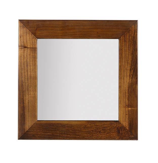 Miroir en bois de mindy carr 80 80 collection mawan for Miroir carre bois