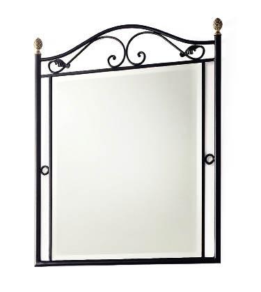 Miroir fer forg 80 95 nosse 6155 for Miroir en fer forge noir