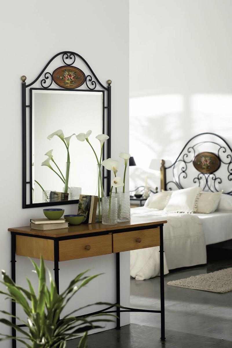 miroir fer forg m tal eliel 6157. Black Bedroom Furniture Sets. Home Design Ideas