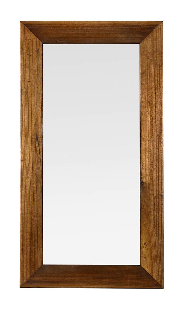 Miroir de salon en bois massif de mindy 80 150 for Miroir salon