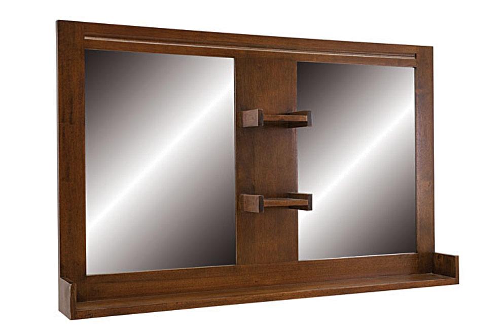 Miroir tag re double salle de bain 5561 - Miroir etagere salle de bain ...