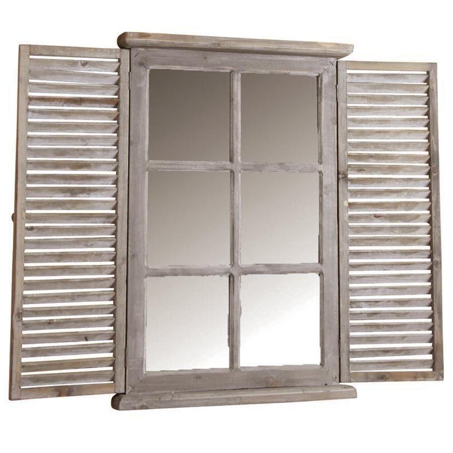 miroir fen tre bois persienne. Black Bedroom Furniture Sets. Home Design Ideas