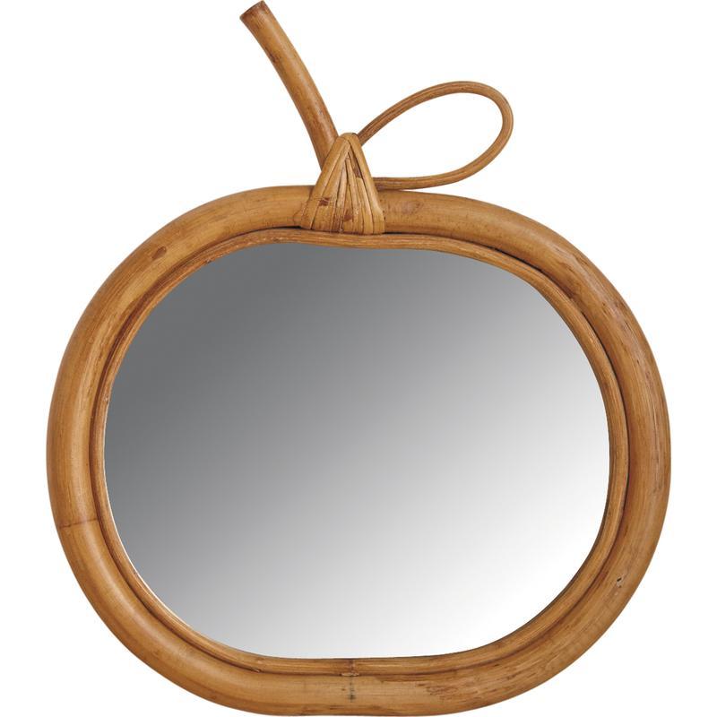 miroir pomme rotin miel 6204. Black Bedroom Furniture Sets. Home Design Ideas