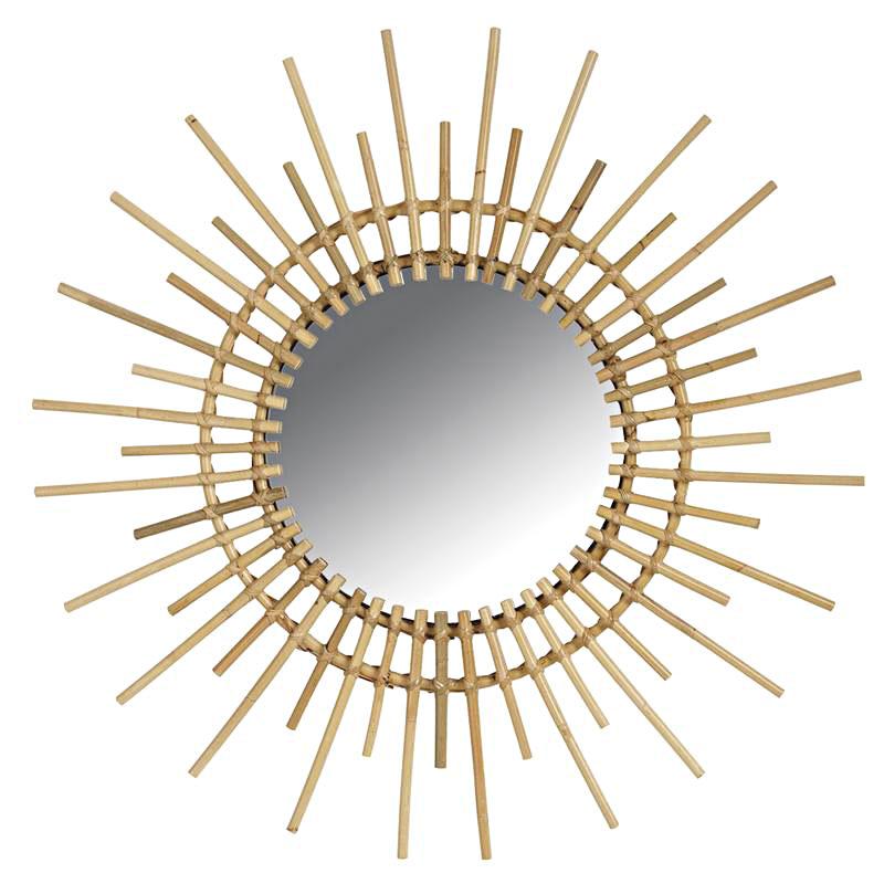 miroir soleil rotin 6249. Black Bedroom Furniture Sets. Home Design Ideas