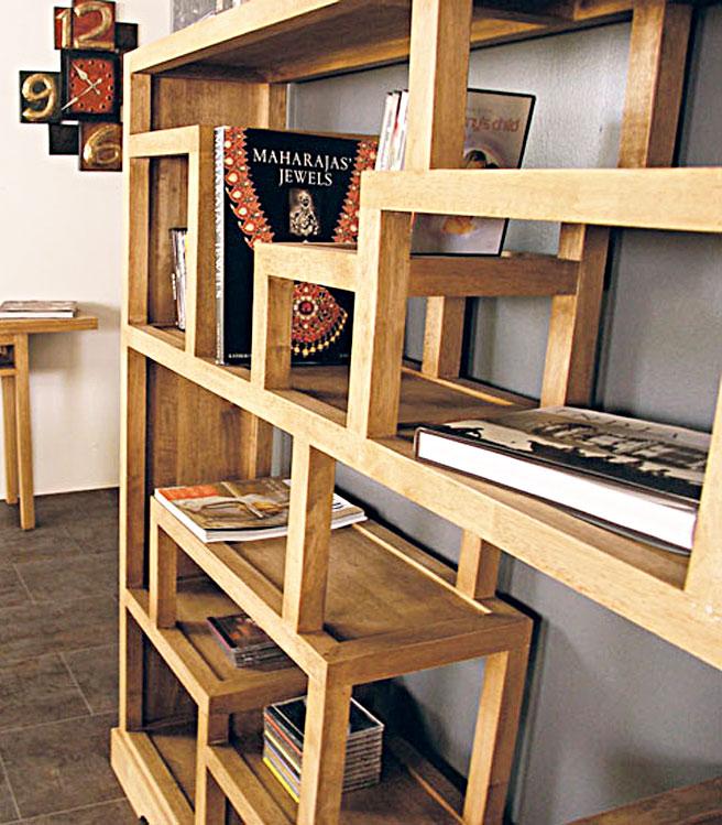 Bibliothèque étagère déstructurée bois #54 ~ Etagere Bibliotheque Bois