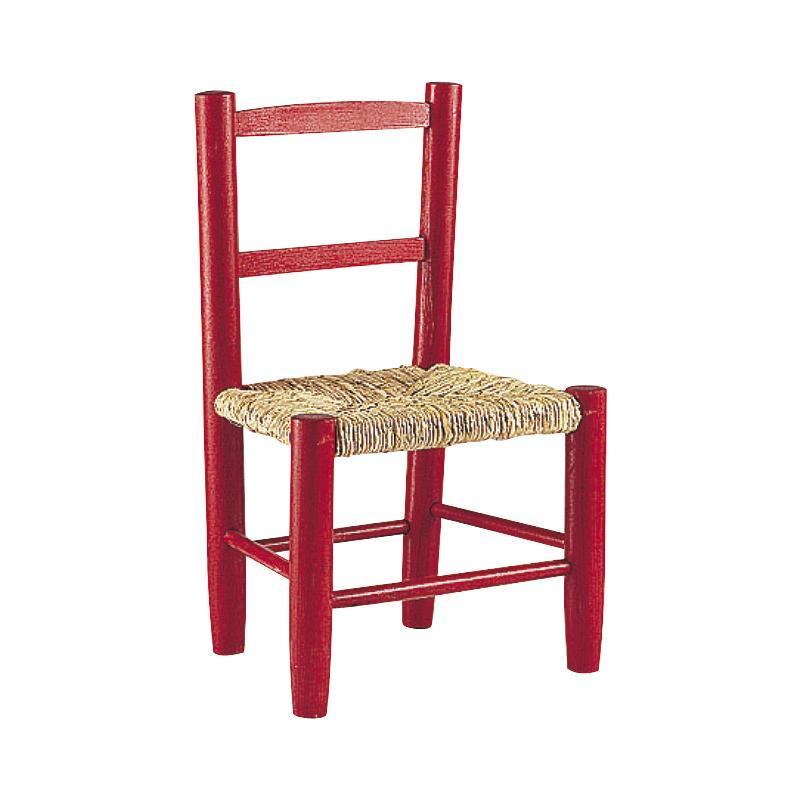 chaise enfant bois rouge flor 1108. Black Bedroom Furniture Sets. Home Design Ideas