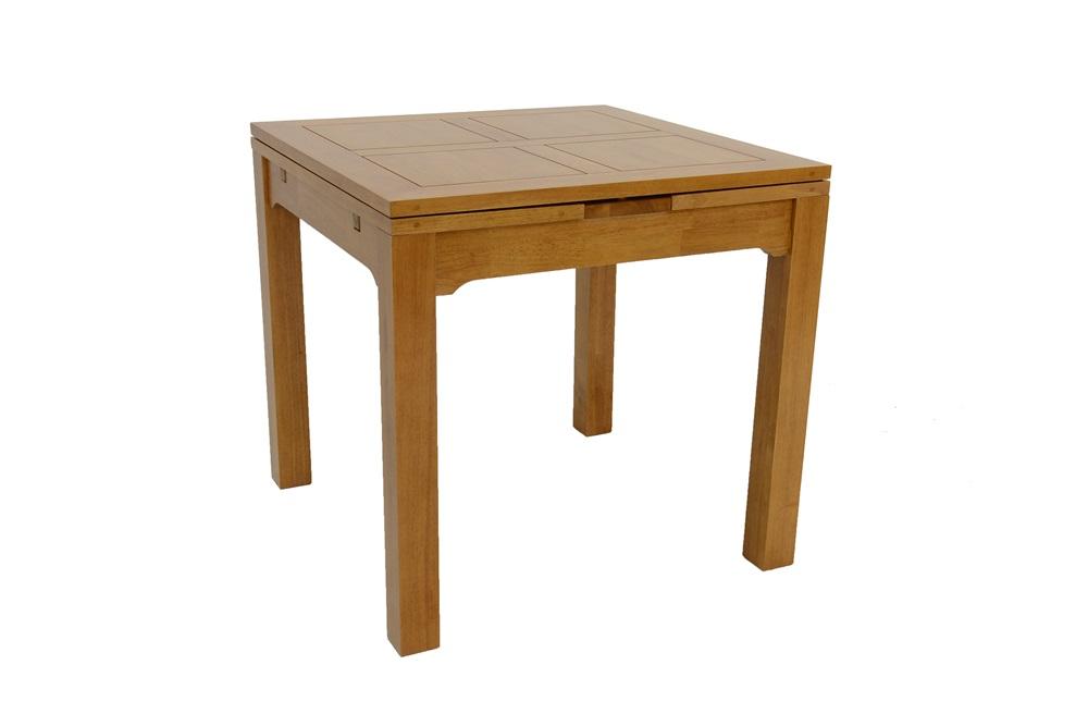 petite table repas en bois 80 cm avec 2 rallonges de 30 cm 5941. Black Bedroom Furniture Sets. Home Design Ideas