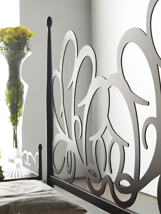 Tête de lit design en métal et fer forgé Poséïdon #5850