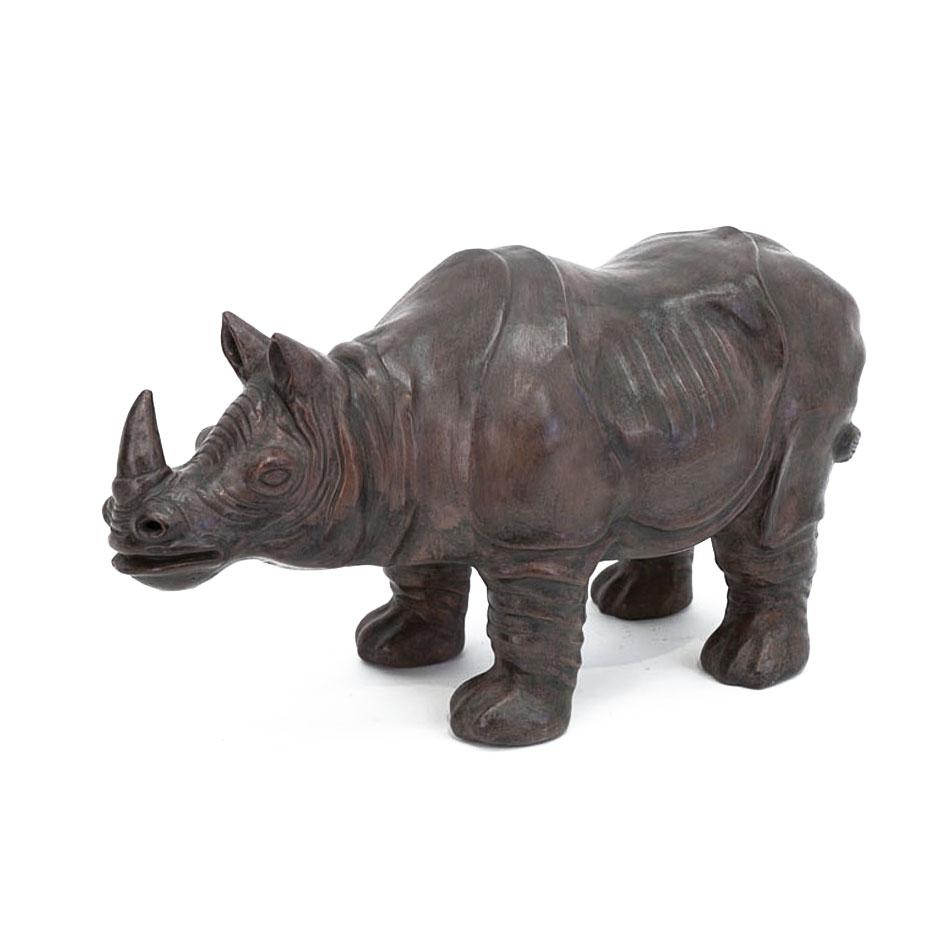Rhinoc ros terracotta grand mod le 5184 for Objet deco a poser
