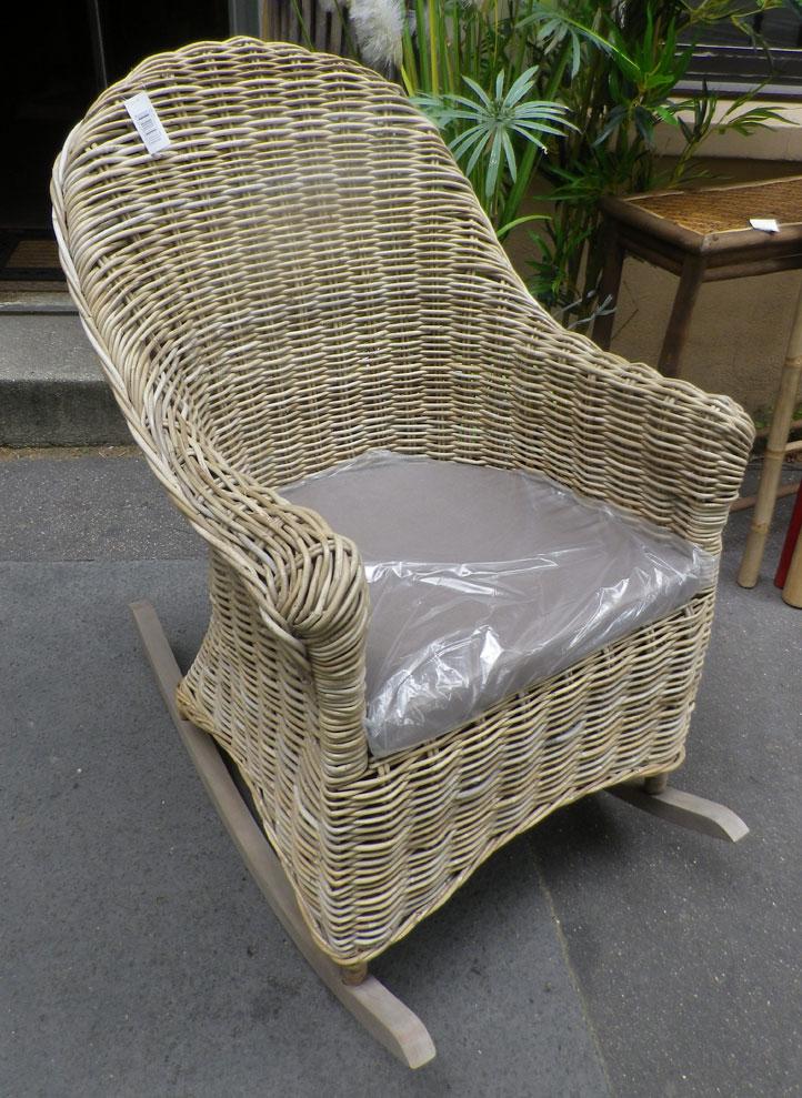 rocking chair rotin poelet 6241. Black Bedroom Furniture Sets. Home Design Ideas