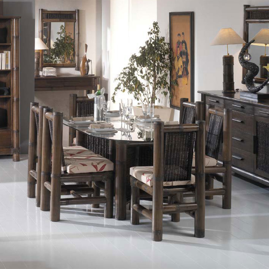 table repas en bambou tropicana wenge 3850. Black Bedroom Furniture Sets. Home Design Ideas