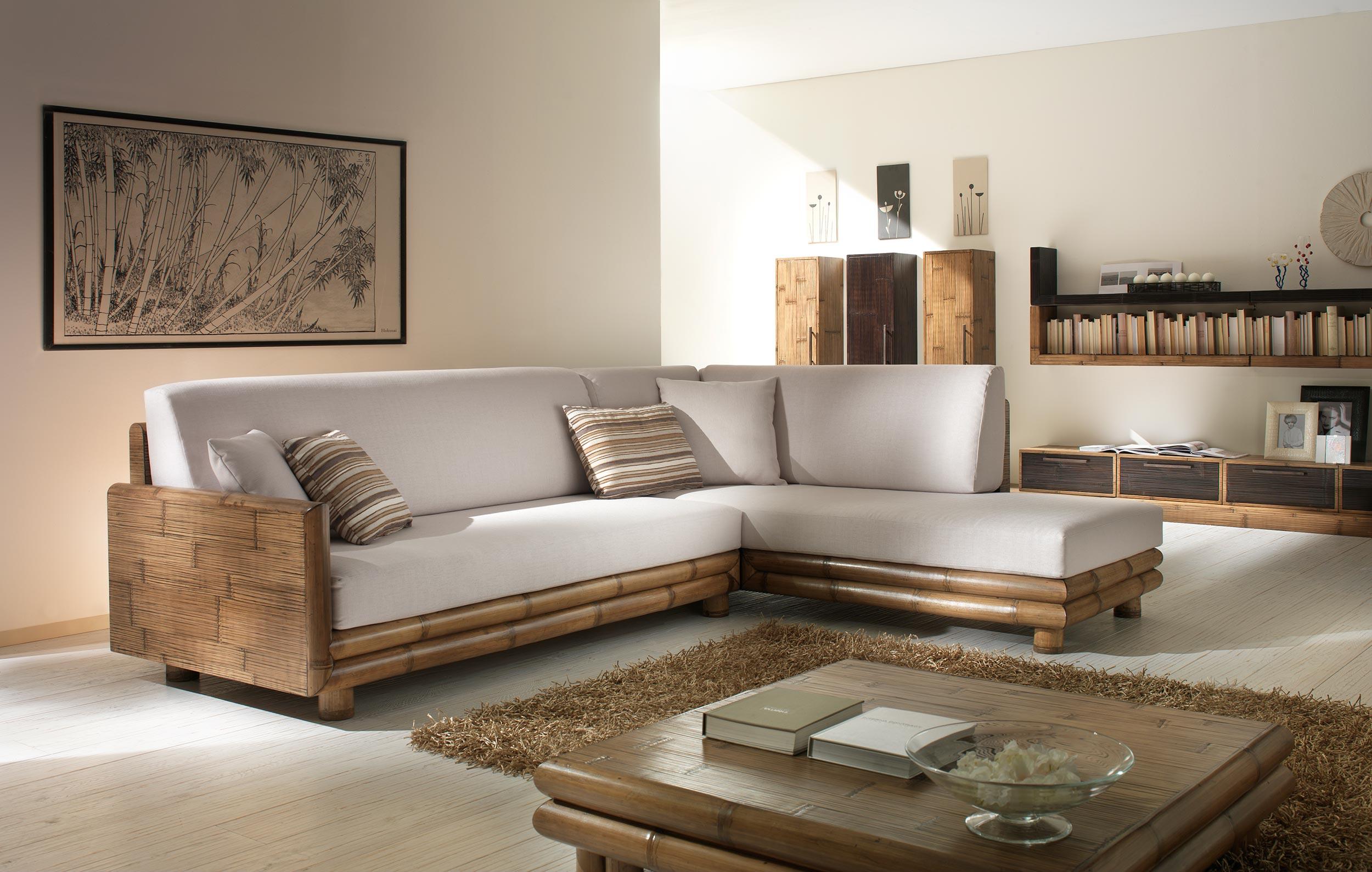 salon d 39 angle bambou zen 4745. Black Bedroom Furniture Sets. Home Design Ideas