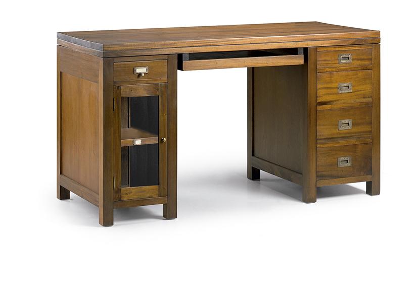 Bureau informatique en bois naturel  cm veland