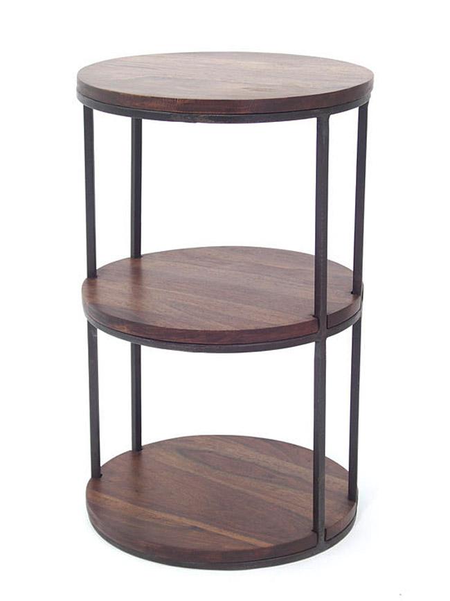 sellette avec tag re en fer forg palissandre 5148. Black Bedroom Furniture Sets. Home Design Ideas