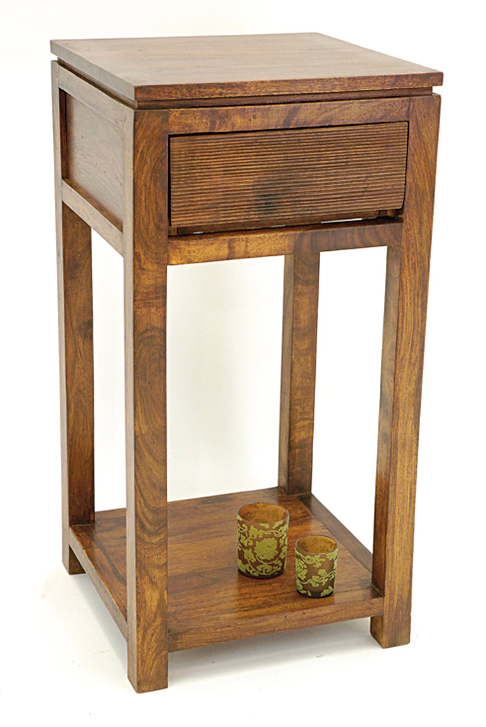 console sellette 1 tiroir palissandre 6548. Black Bedroom Furniture Sets. Home Design Ideas