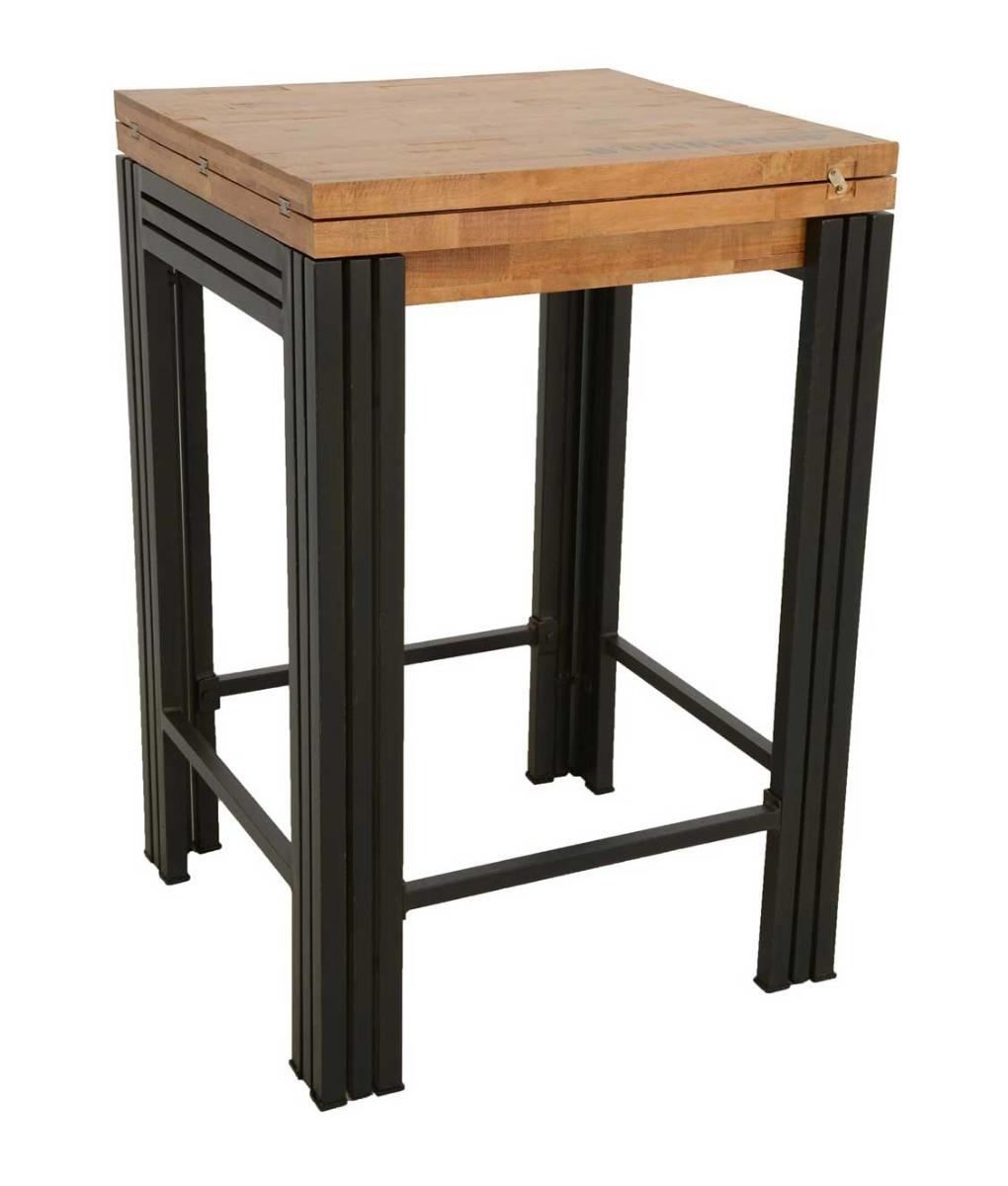 indus table de bar industrielle rallonge int gr e. Black Bedroom Furniture Sets. Home Design Ideas