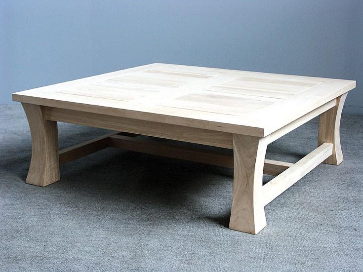 table basse carr e bois jorg 5383. Black Bedroom Furniture Sets. Home Design Ideas