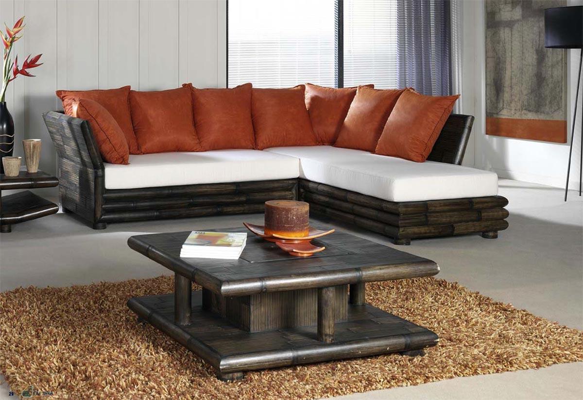 table basse bambou wenge avec coffre bar tao 2383. Black Bedroom Furniture Sets. Home Design Ideas