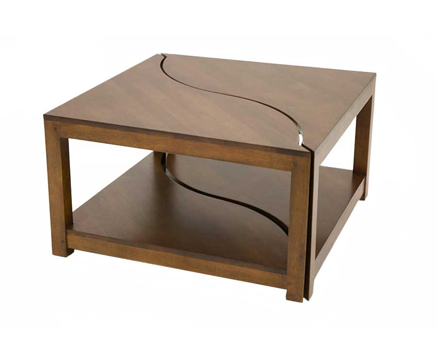 Set de 2 tables basses bois jorg 5384 for Set de table en bois