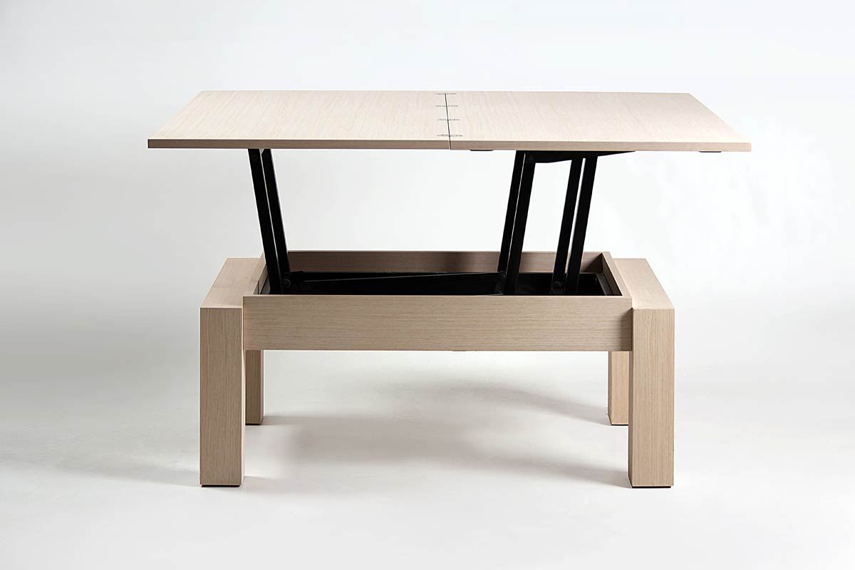 Table convertible basse et haute - Table basse transformable en table haute ...
