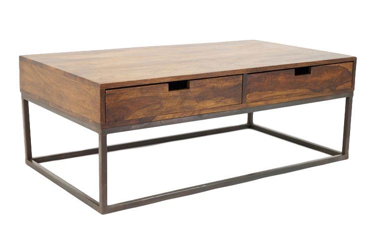 Crispy Table De Salon Rectangulaire Bois Et Fer