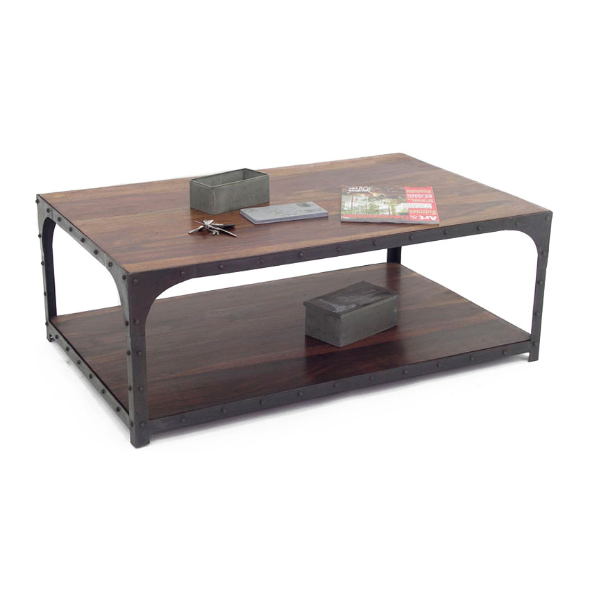 Industriel une table basse au design pur fonctionnelle - Table basse style industrielle ...