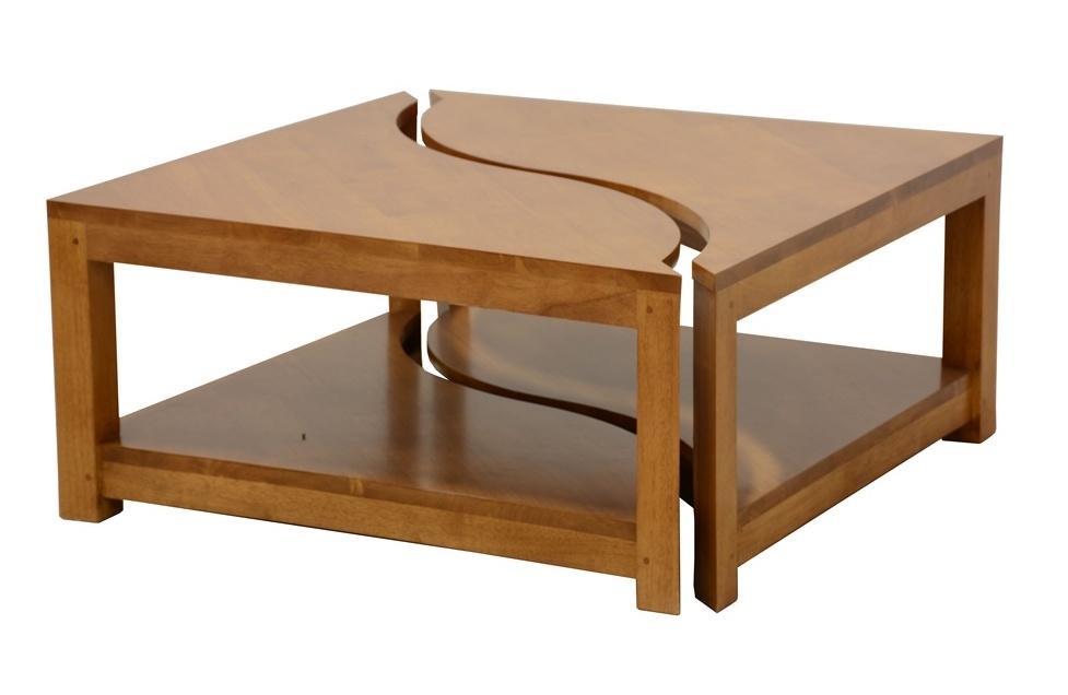 Table basse en bois Yin Yang   deux en un bb16388f2d50