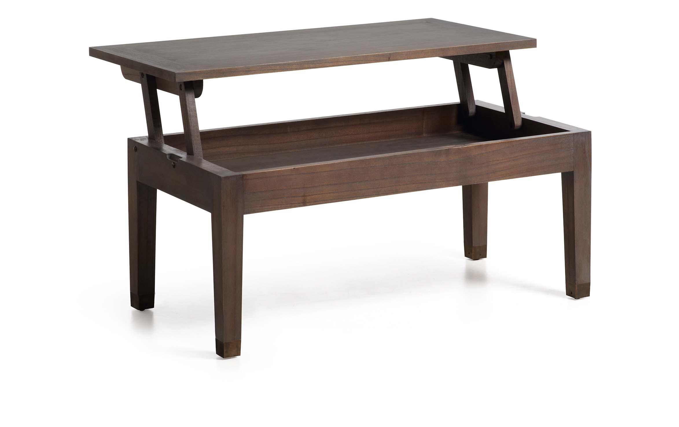 table basse relevable en bois gris collection tana. Black Bedroom Furniture Sets. Home Design Ideas