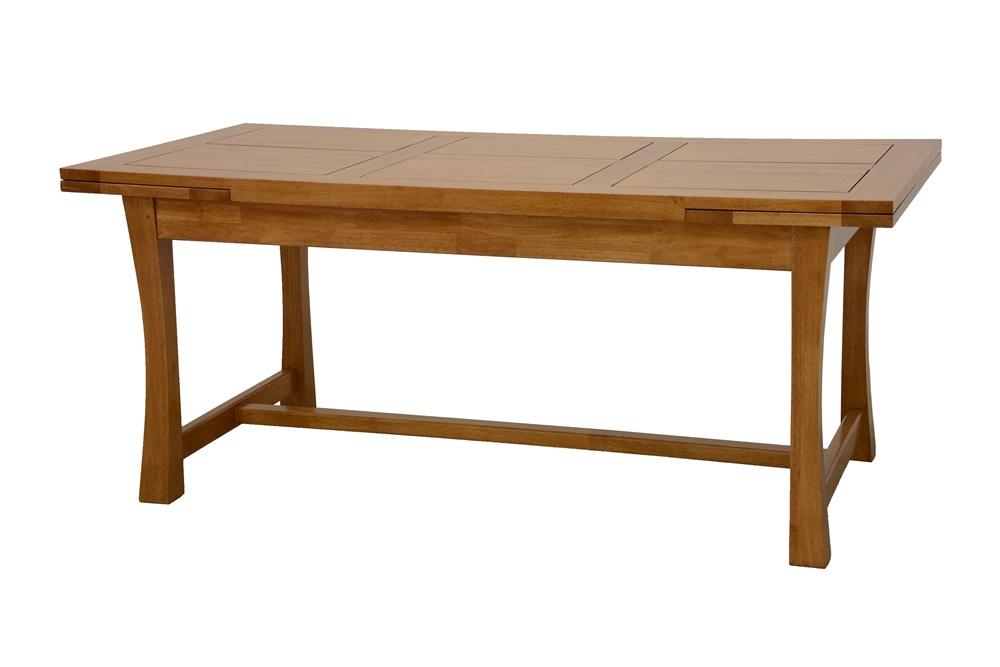 Table bois 180 cm avec 2 allonges 40 cm 5925 Table bois rectangulaire avec allonges