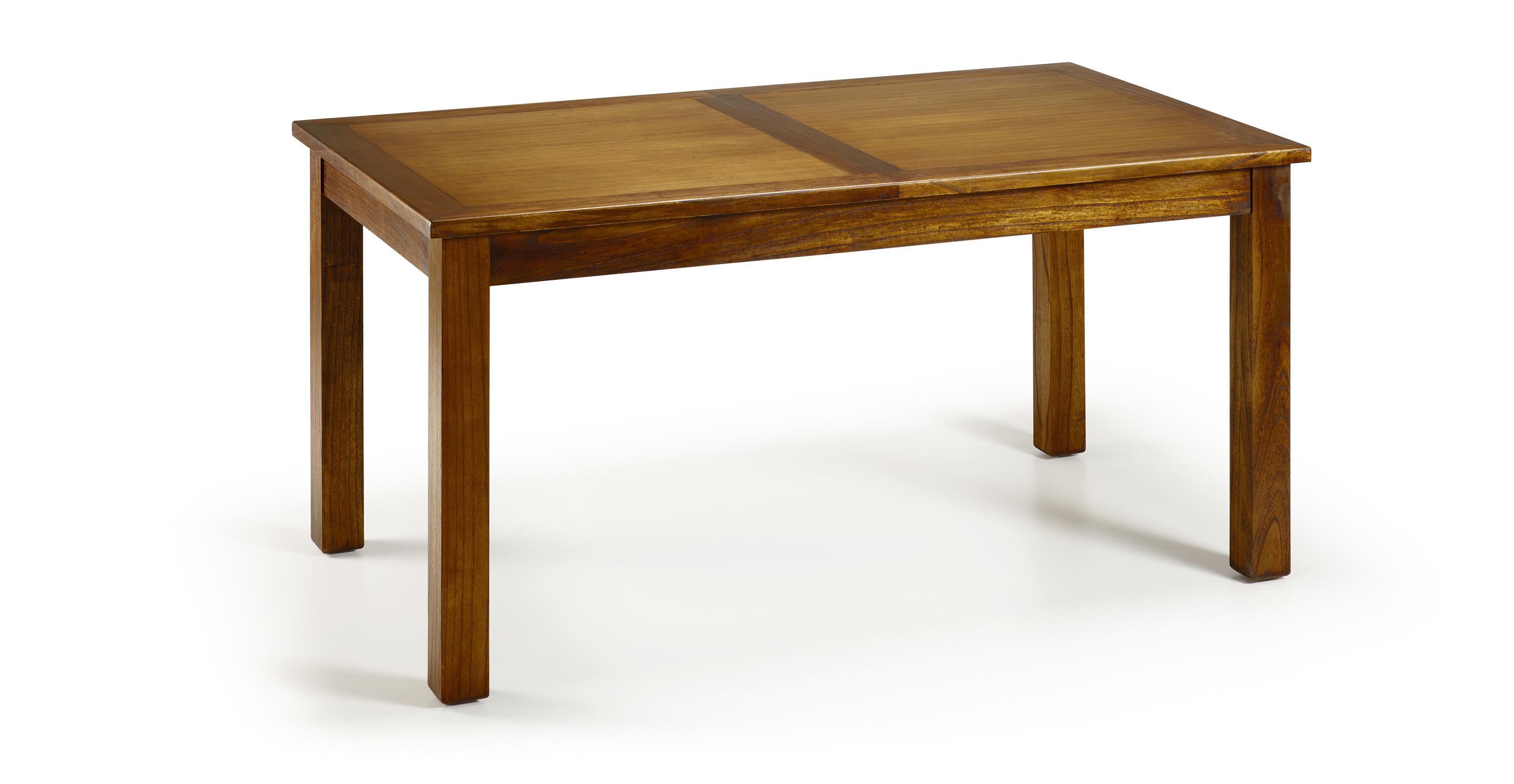 table de salle manger en bois de mindi extensible 150 200 90 78 cm saurus. Black Bedroom Furniture Sets. Home Design Ideas
