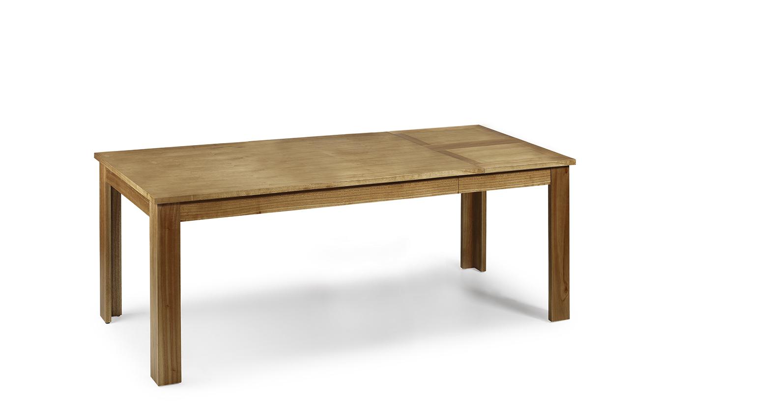 table de salle manger en bois naturel avec rallonge lat rale 160 220 90 78 collection briani. Black Bedroom Furniture Sets. Home Design Ideas