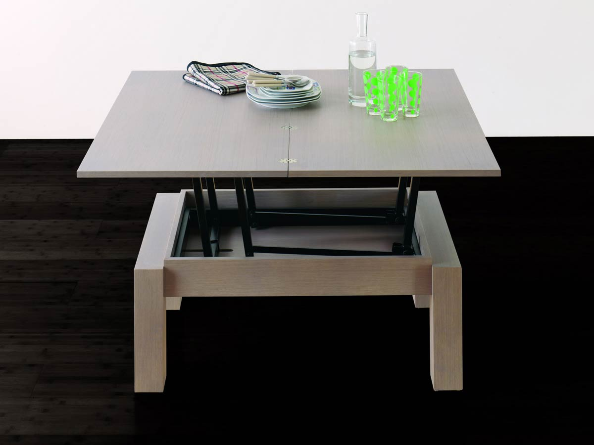 Table basse transformable petty deux meubles en un - Table salon transformable ...
