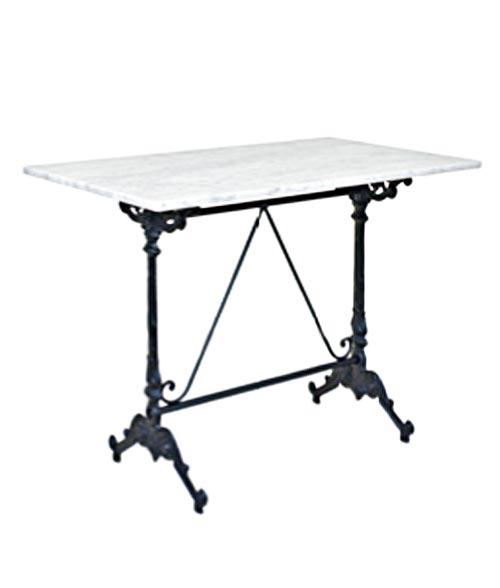 table rectangulaire bistrot avec plateau au choix. Black Bedroom Furniture Sets. Home Design Ideas