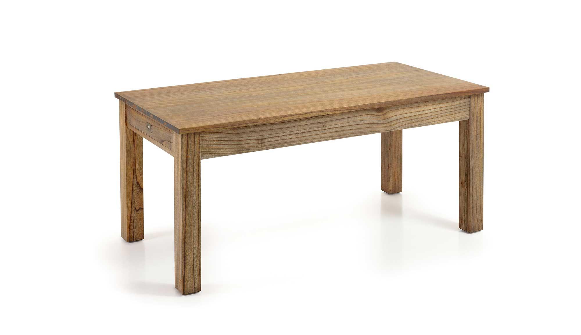 Table manger en bois de mindy plateau 180 90 avec for Table 0 manger