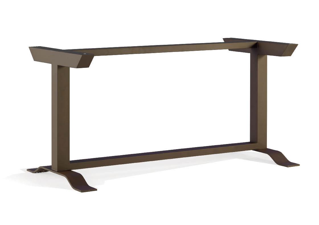 pied de table metal amazing pied de table basse inox. Black Bedroom Furniture Sets. Home Design Ideas
