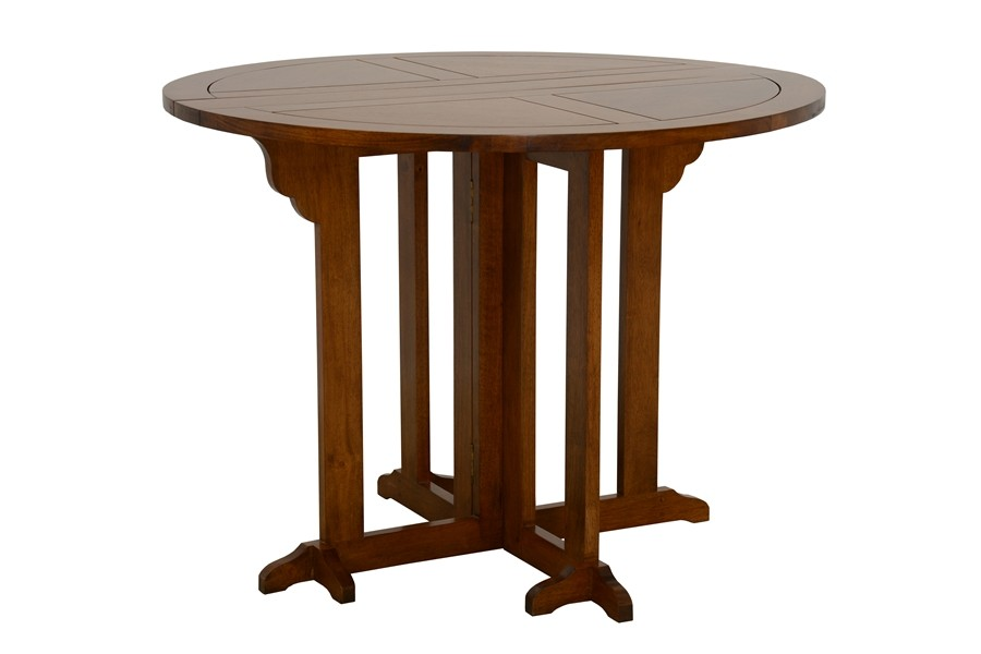 Table basse pliante 2 rabats en bois années 60   Selency