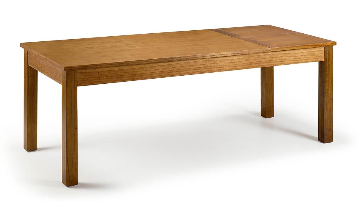 Table en bois avec rallonge lat rale 160 220 cm bois de for Table 160 cm avec rallonge