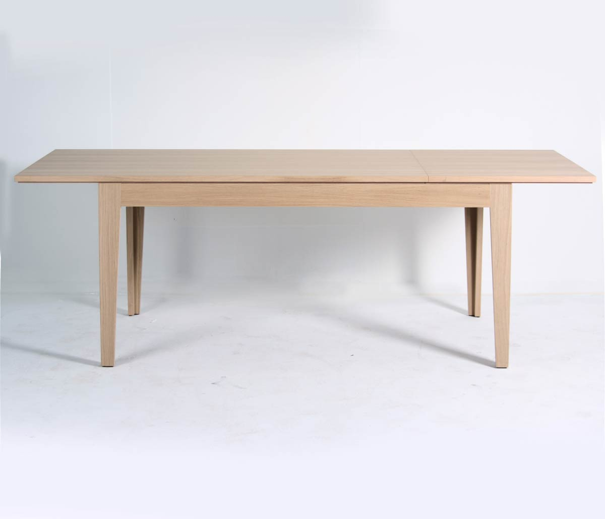 Table bois avec extension ch ne 160 225 cm mighty 5816 for Table a manger 160 cm avec rallonge