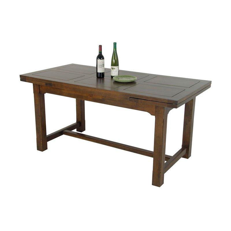 table repas bois avec allonges 160 cm 5486. Black Bedroom Furniture Sets. Home Design Ideas