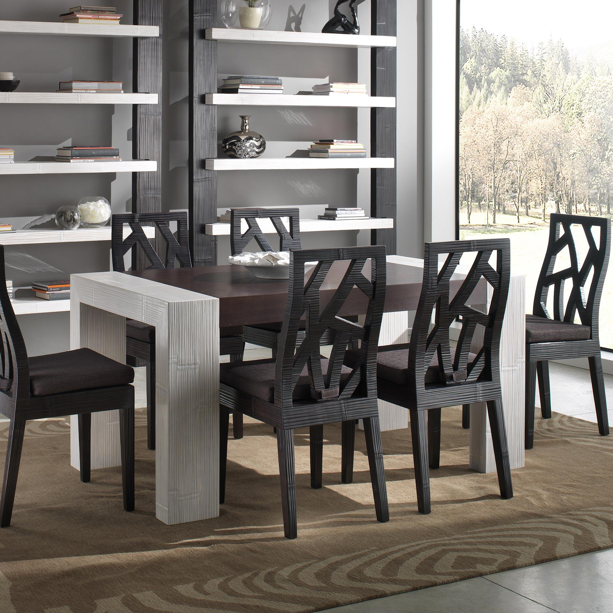 table repas moderne avec rallonge extensible couleur au choix mod le hertnam. Black Bedroom Furniture Sets. Home Design Ideas